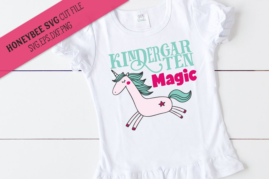 Kindergarten Magic Unicorn SVG Cut File example image 1