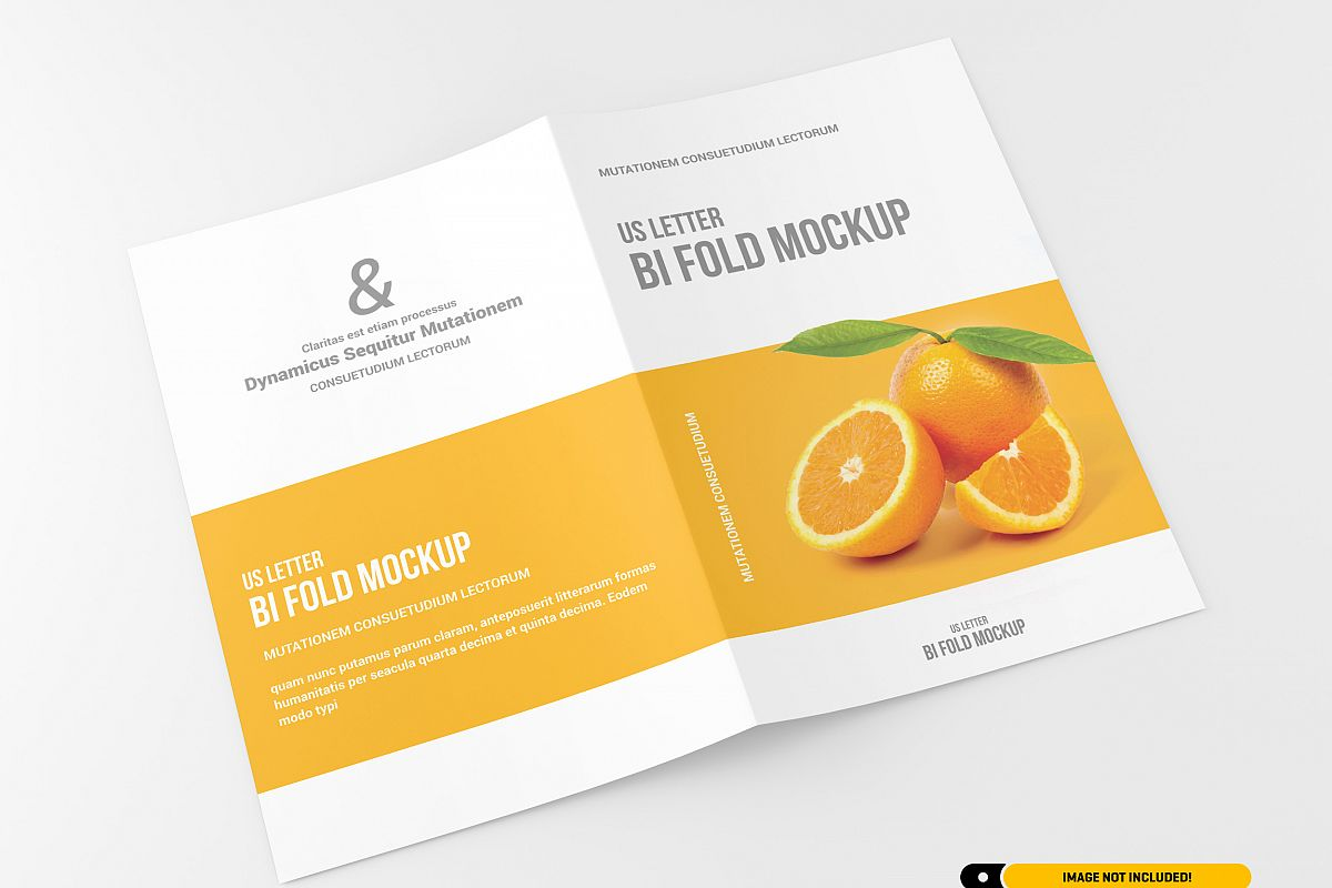 US Letter Bifold Brochure Mockup example image 1