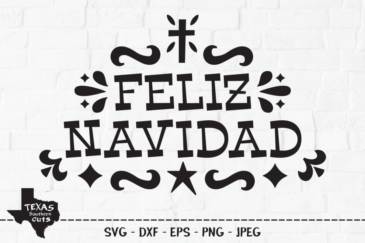 Feliz Navidad SVG, Cut File, Christmas Holiday Shirt Design example image 1