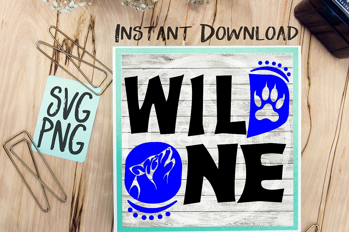 Wild One First Birthday SVG Image Design for Vinyl Cutters Print DIY Design Brother Cricut Cameo Cutout  example image 1