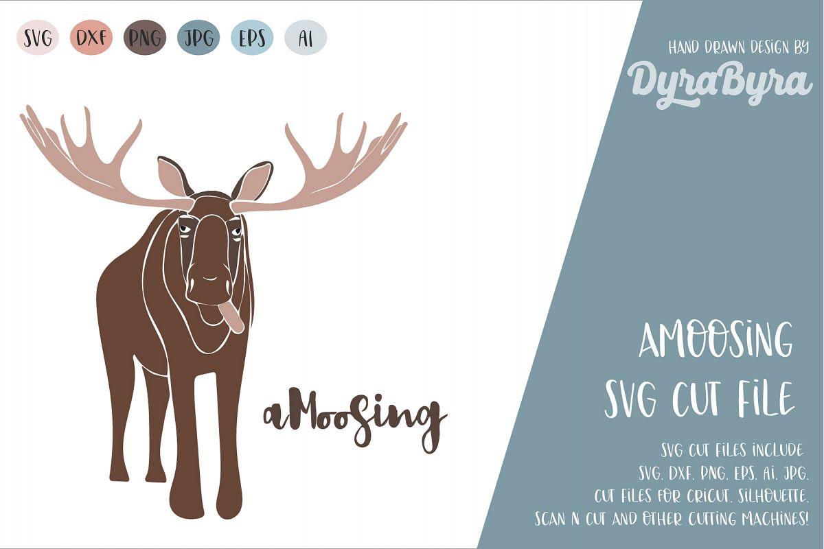 Amoosing SVG / Moose SVG / Deer SVG Cut File example image 1