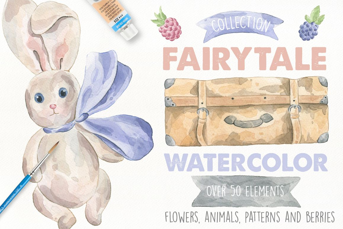 Fairytale Watercolor Collection example image 1