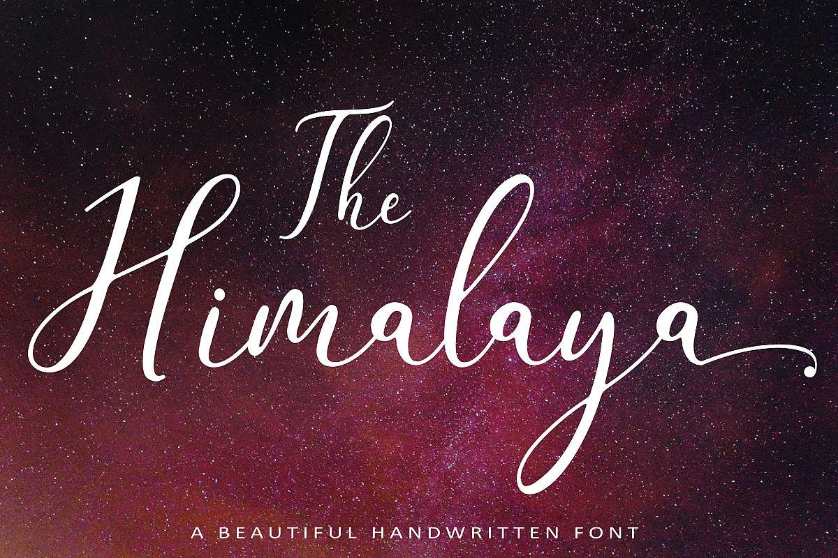 The Himalaya | beautiful handwriten example image 1