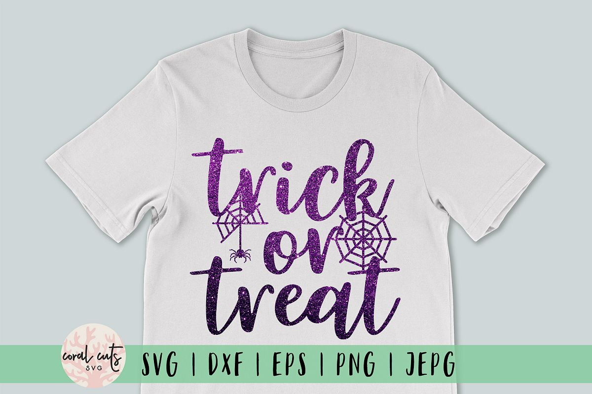 Trick Or Treat - Halloween SVG EPS DXF PNG Cutting Files example image 1