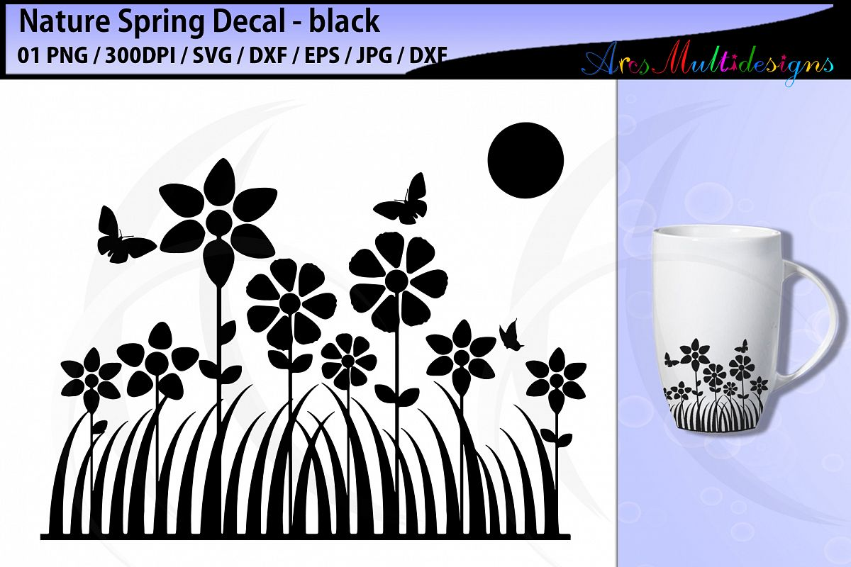 Spring fun decal svg cut silhouette example image 1