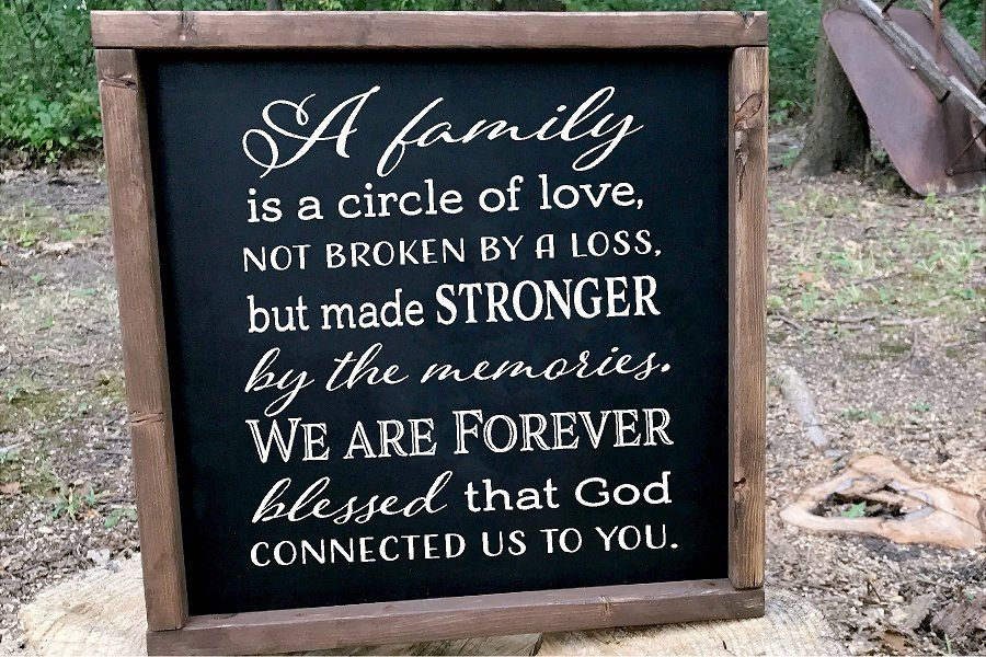 Family Circle Of Love Sympathy SVG example image 1