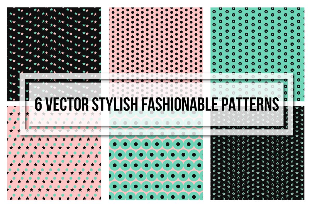 Stylish Fashionable Seamless Patterns example image 1