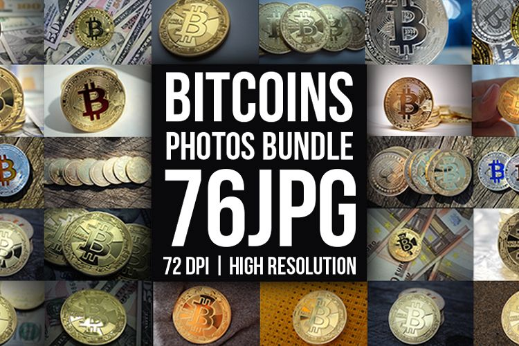 Bitcoins Coins Photos Bundle example image 1