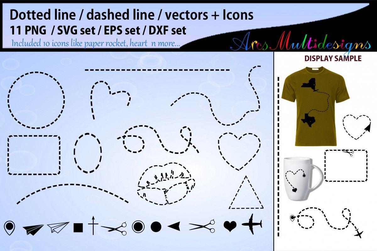 Dotted line svg vector / valentine dashed line svg example image 1