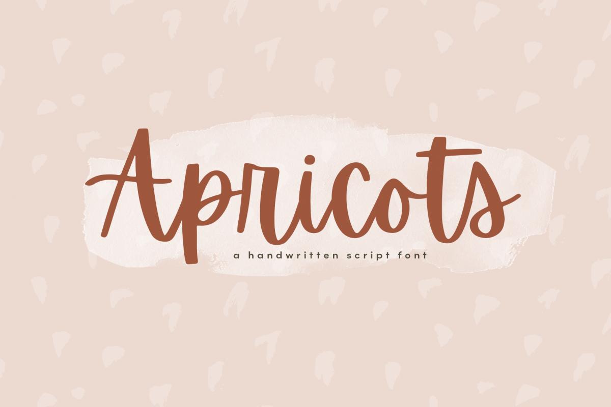 Apricots - Handwritten Script Font example image 1