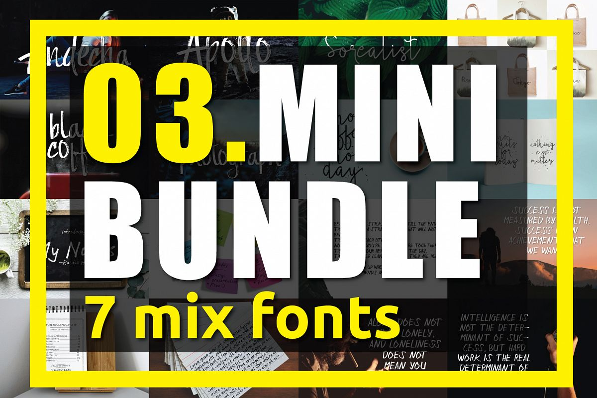 03. MINI BUNDLE - 7 mix fonts example image 1