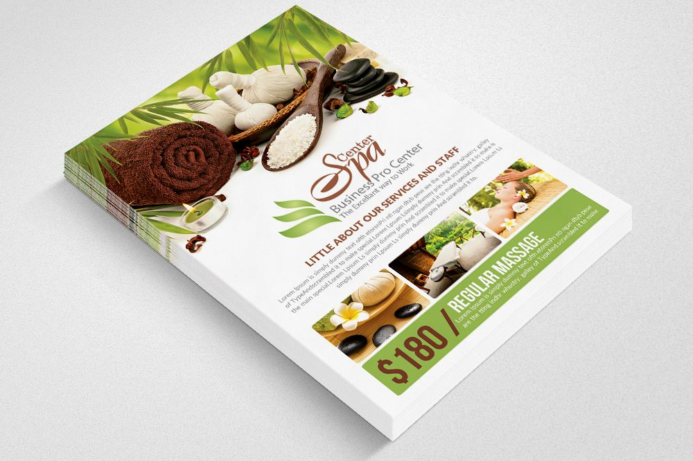 Spa Center Flyer Templates example image 1