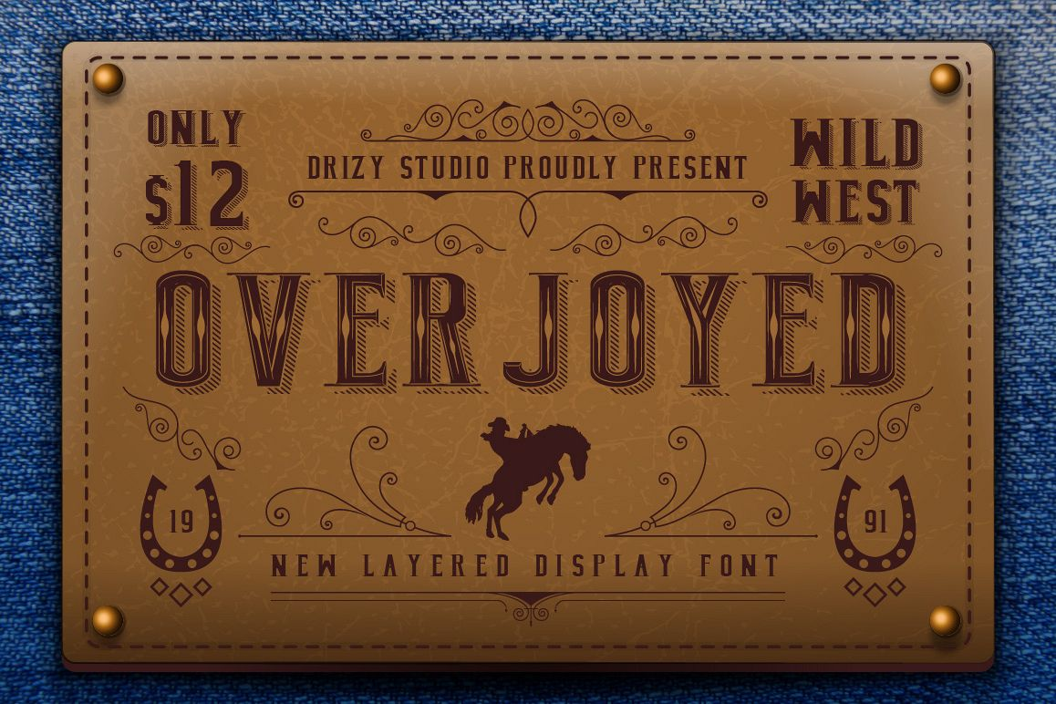 Overjoyed Layered Typeface example image 1