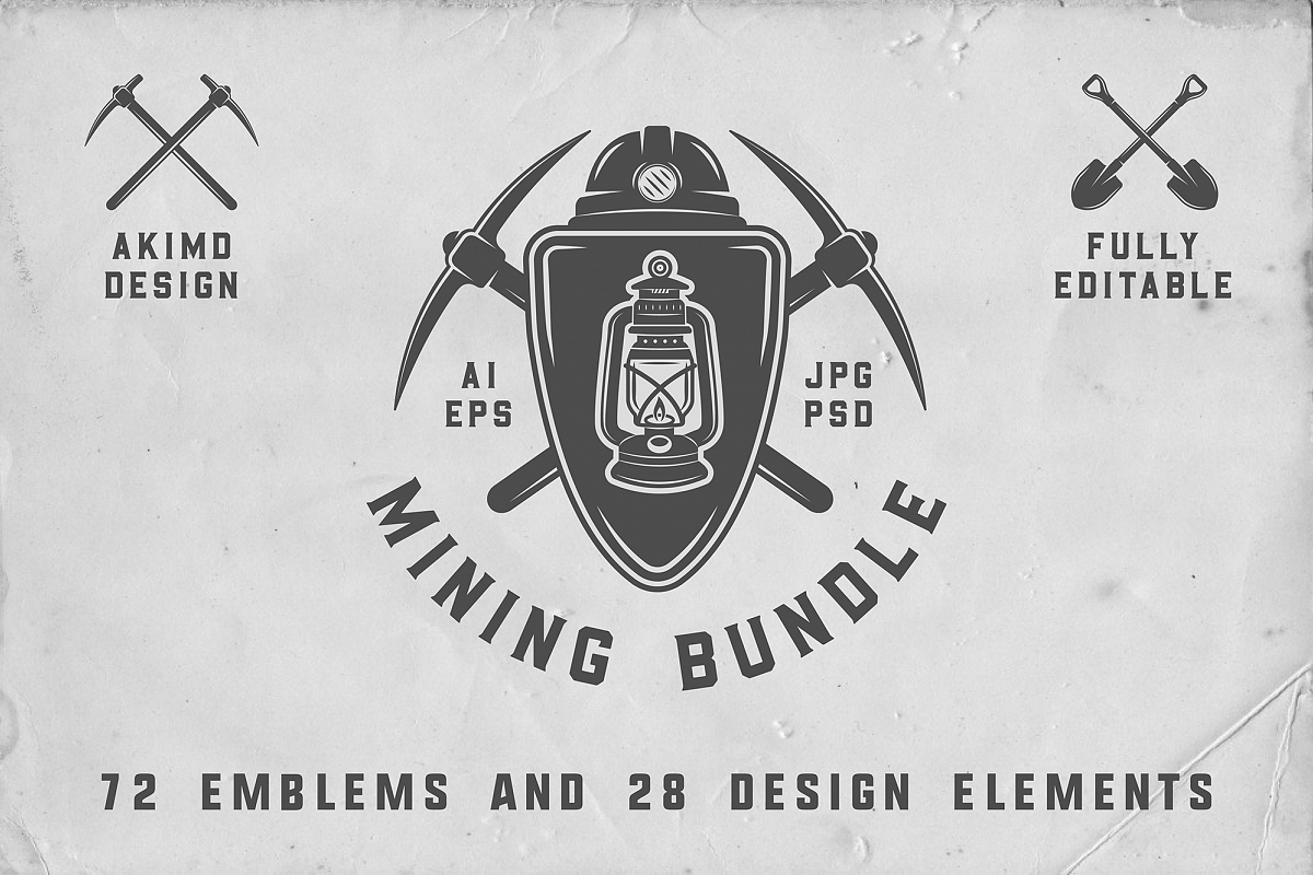 dfd40285e77 Mining Emblems Bundle example image 1