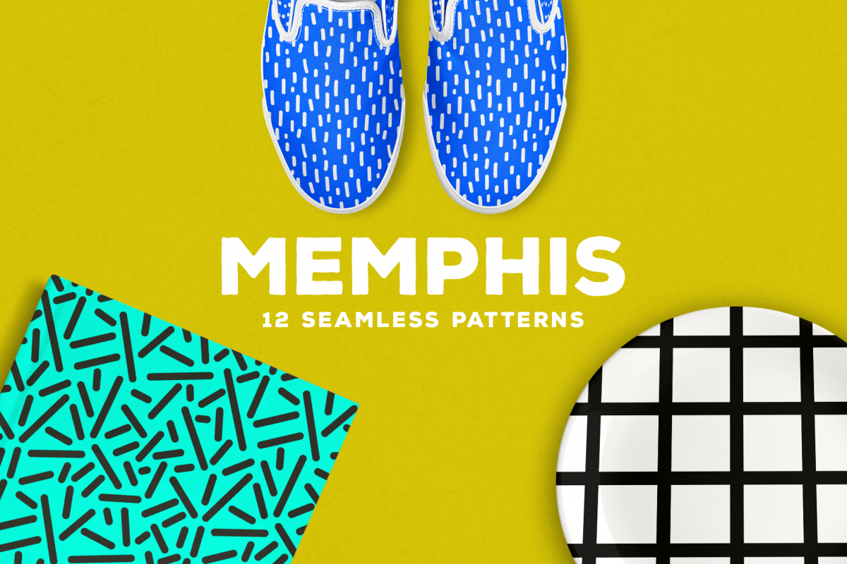 Memphis Seamless Patterns example image 1