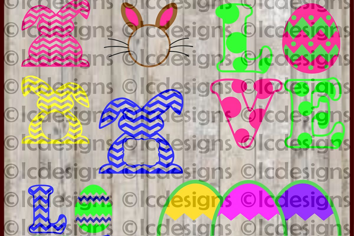 LC025 - Easter Monogram Frame Designs example image 1