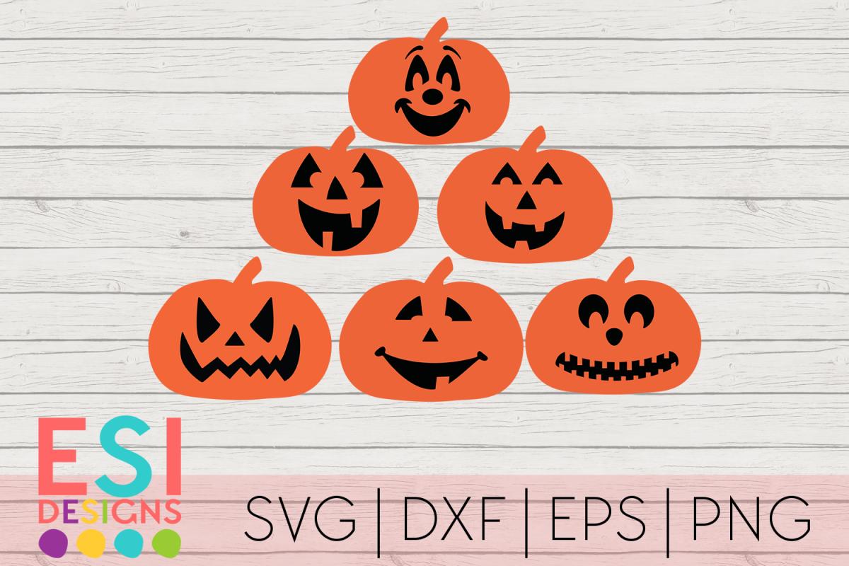 Halloween Pumpkin Jack O Lantern Designs Svg Dxf Eps Png