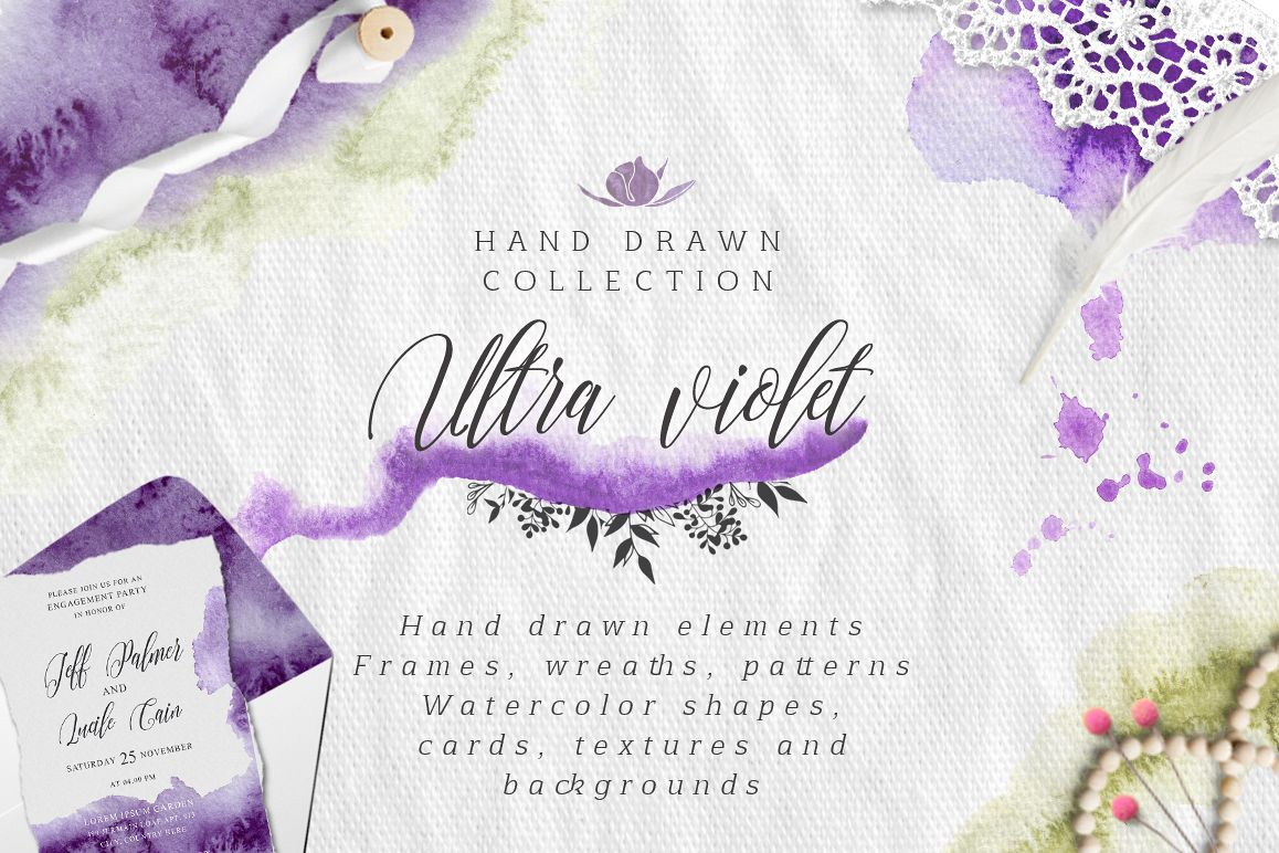 Ultra Violet watercolor collection example image 1
