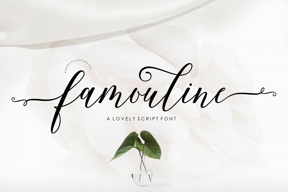 Famouline Script example image 1