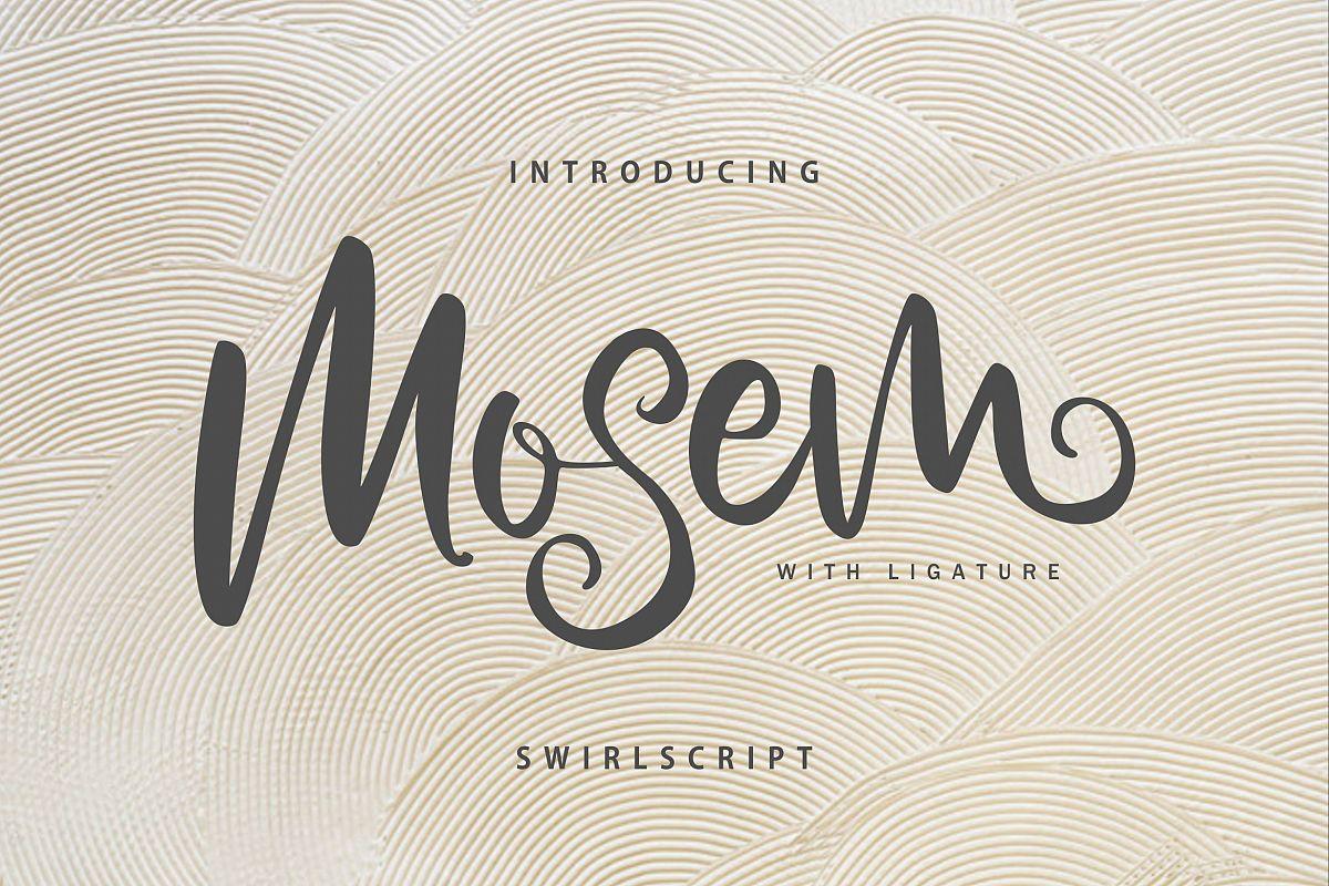 Mosem | Swirl Script Font example image 1