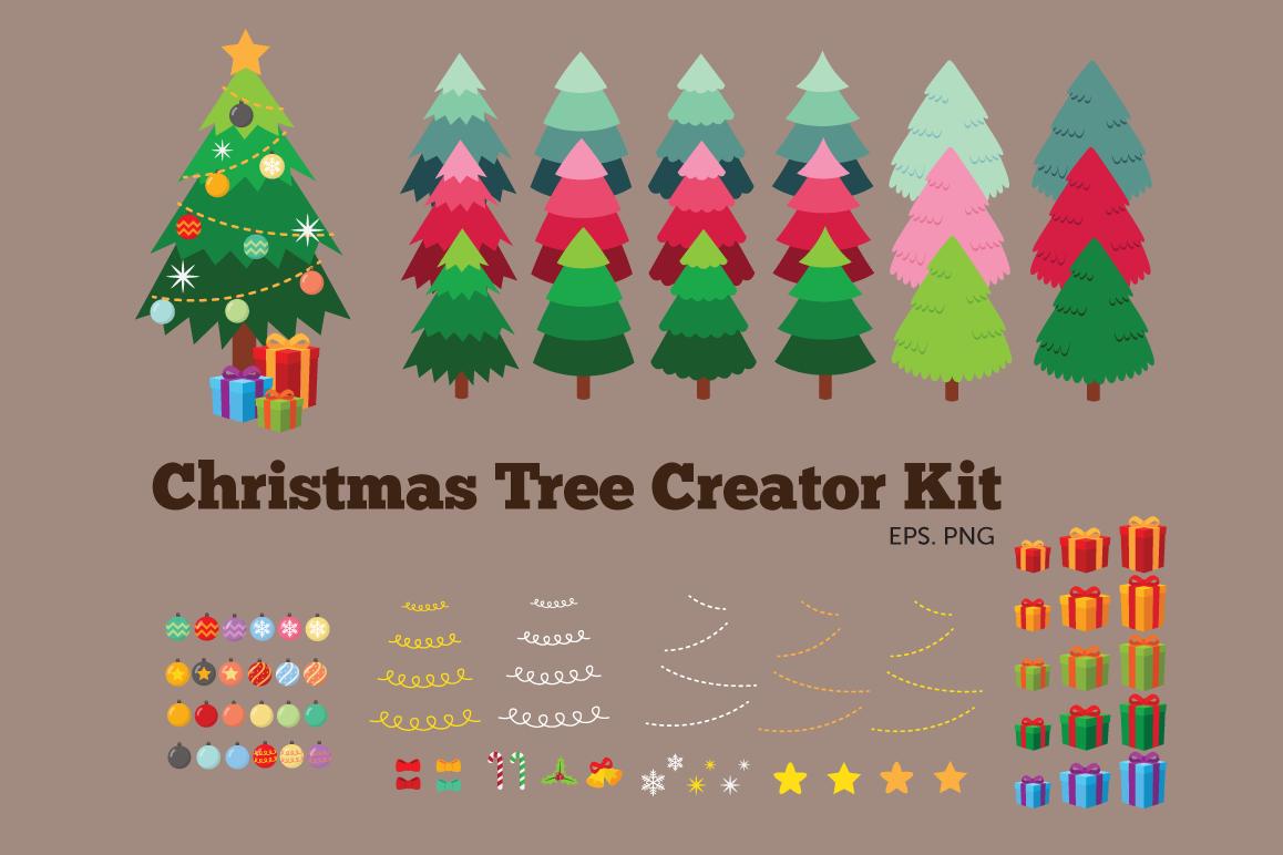 Christmas Tree Creator Kit Clipart example image 1