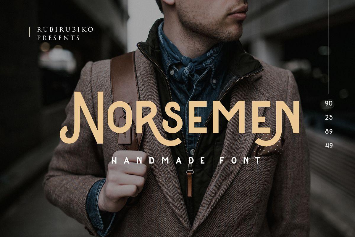 Norsemen - Handmade Font example image 1