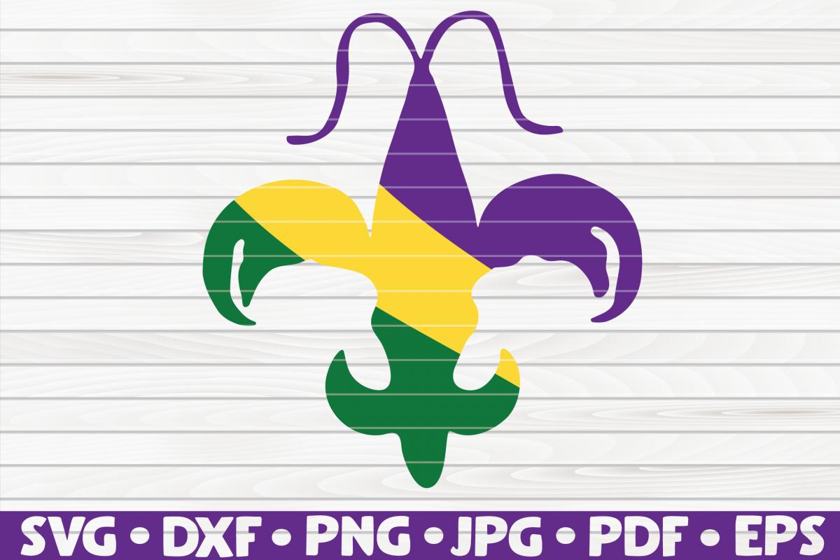 Crawfish Fleur de lis| Mardi Gras design | SVG | cut file example image 1