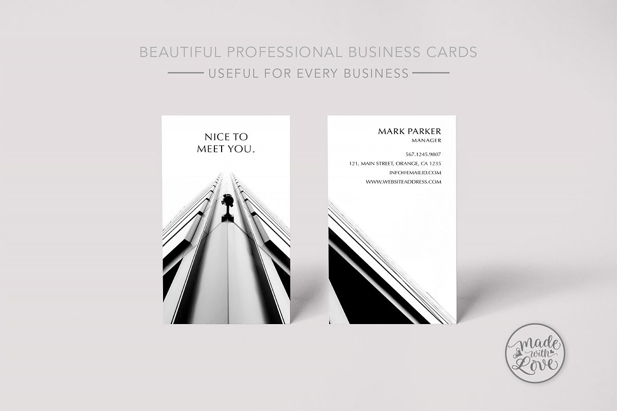 Beautiful professional business card by design bundles beautiful professional business card example image reheart Image collections