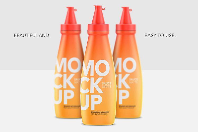 Sauce Bottle Mockup - Matte example image 1