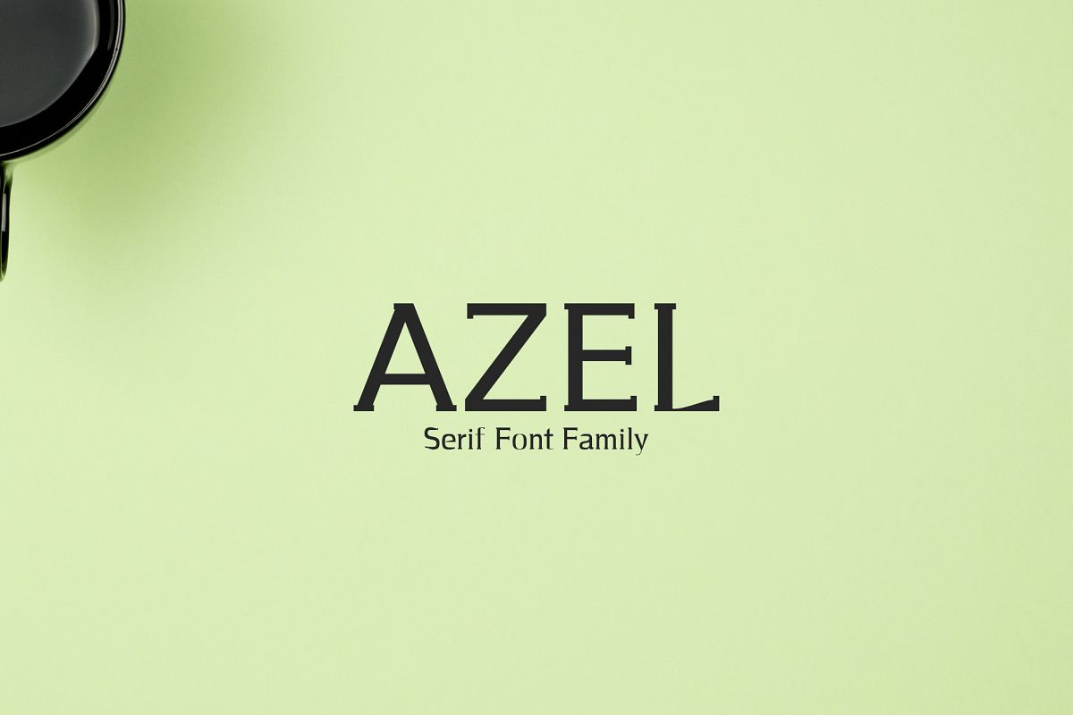 Azel Serif 4 Font Family Pack example image 1
