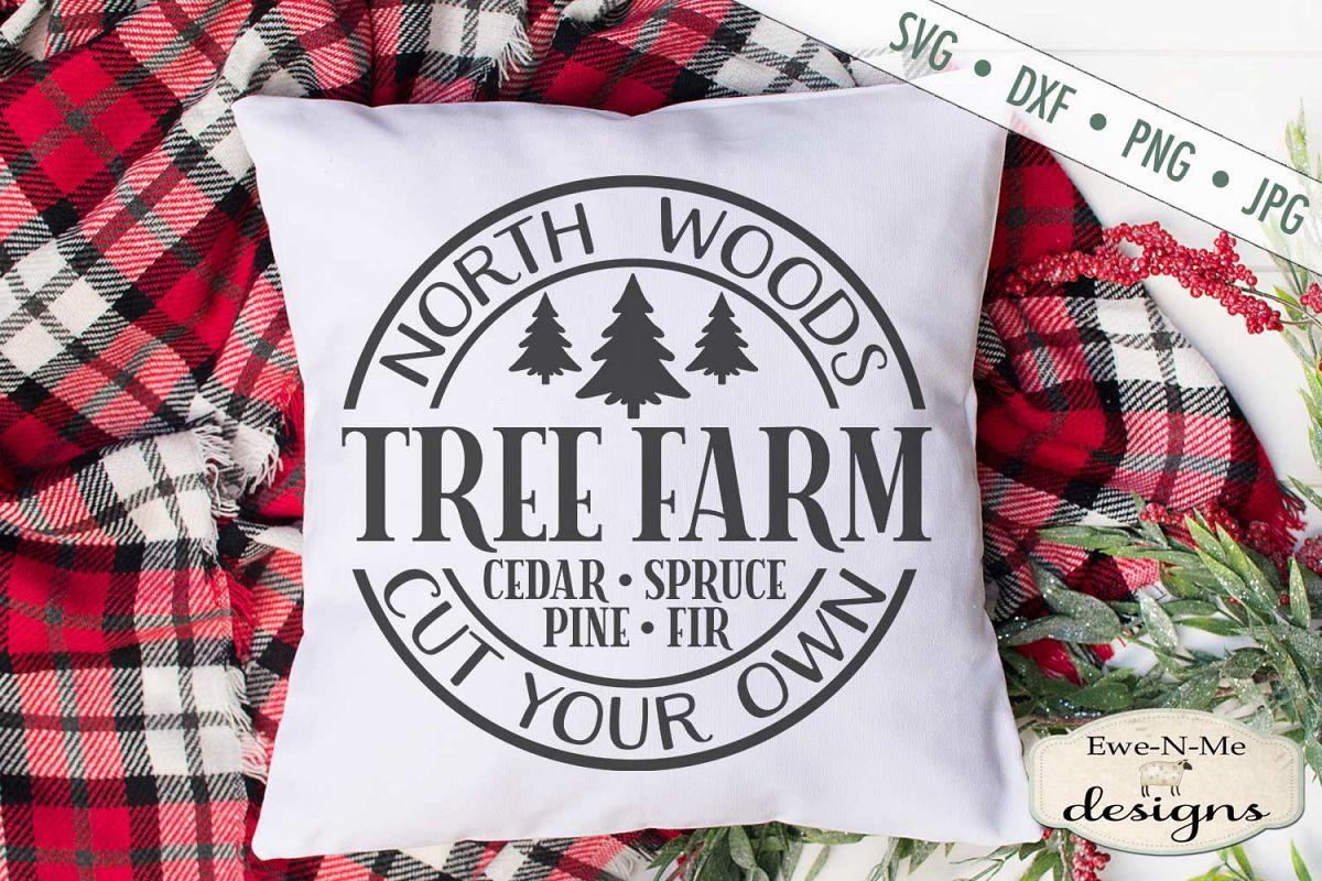 North Woods Tree Farm - Christmas Tree - SVG example image 1