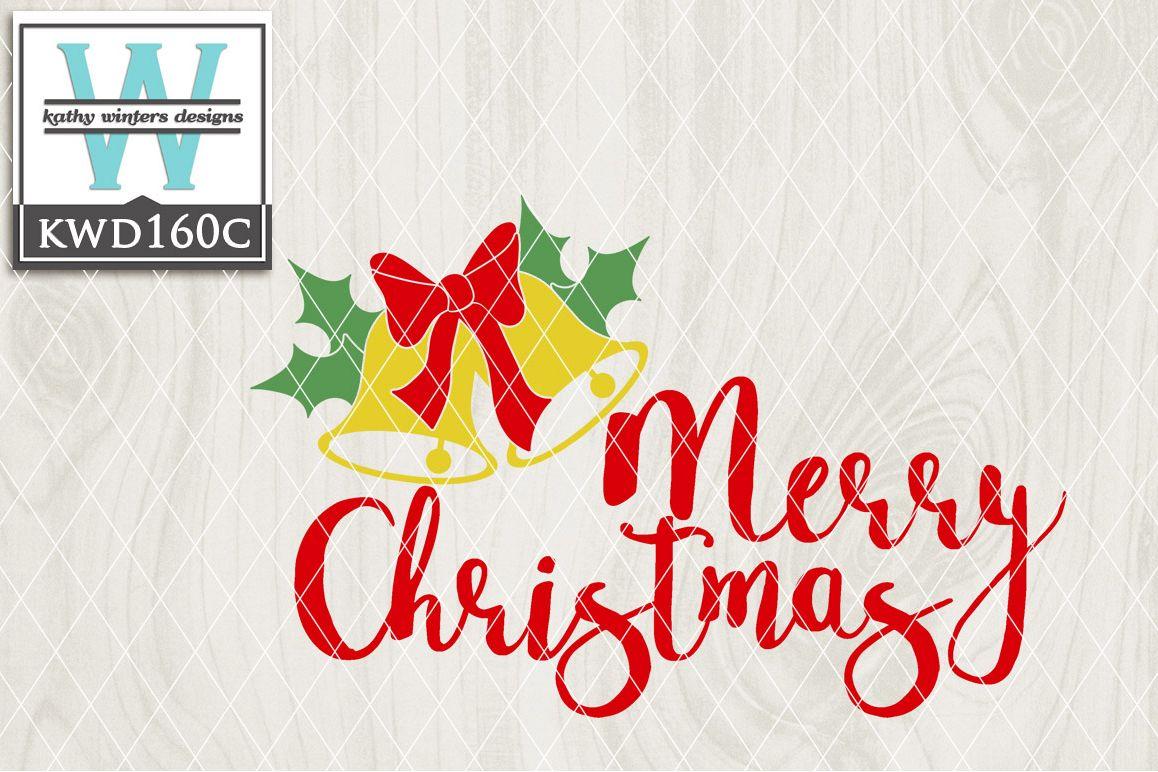 Christmas SVG - Merry Christmas KWD160C example image 1