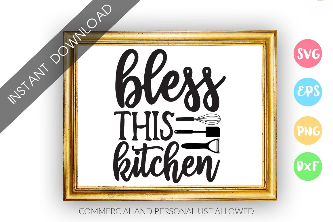 Bless this kitchen SVG Design example image 1