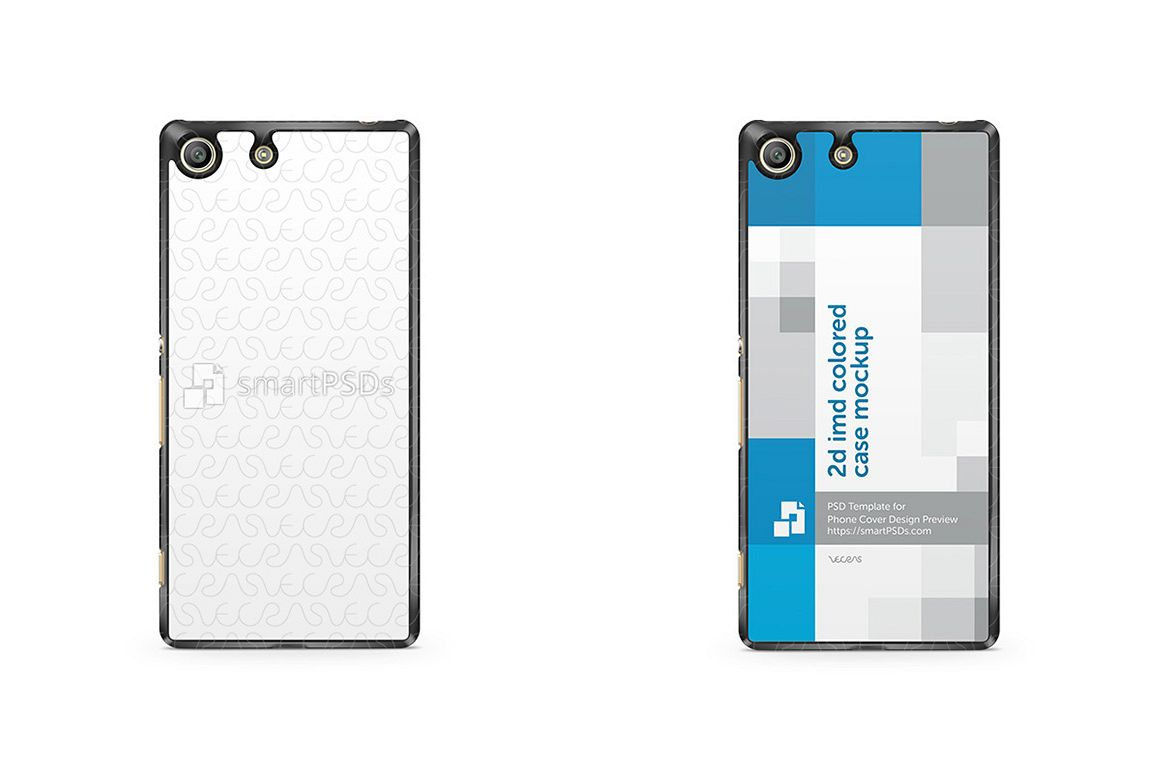 Sony Xperia M5 2d IMD Colored Mobile Case Design mockup 2015 example image 1