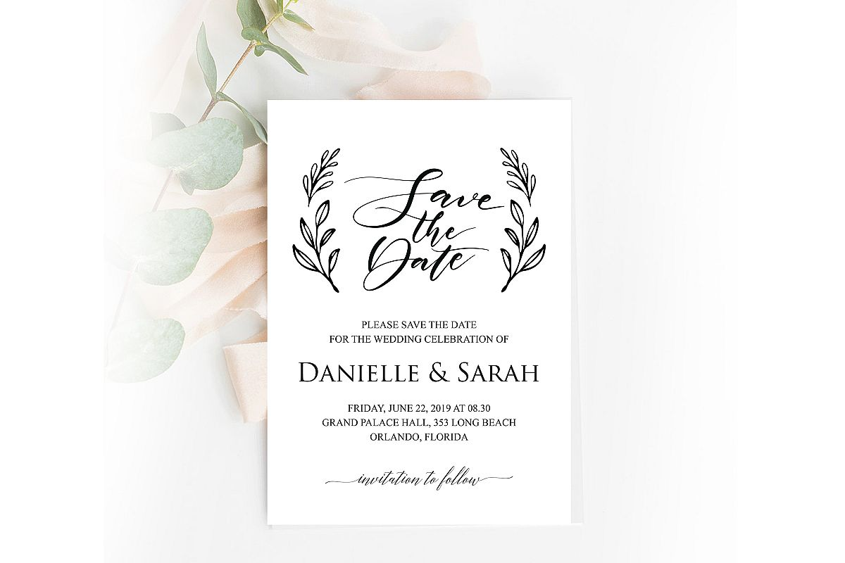 Save the Date Invitation, Save the Date Template example image 1