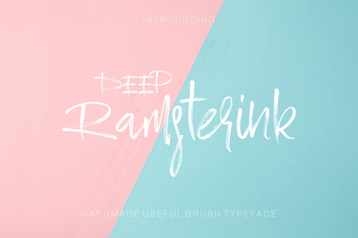 Ramsterink Brush Font example image 1