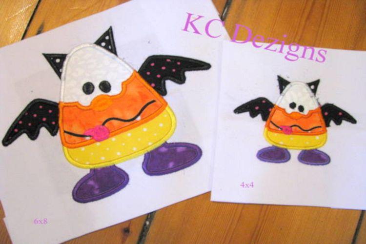 Wacky Halloween Corn 02 Machine Applique Embroidery Design example image 1