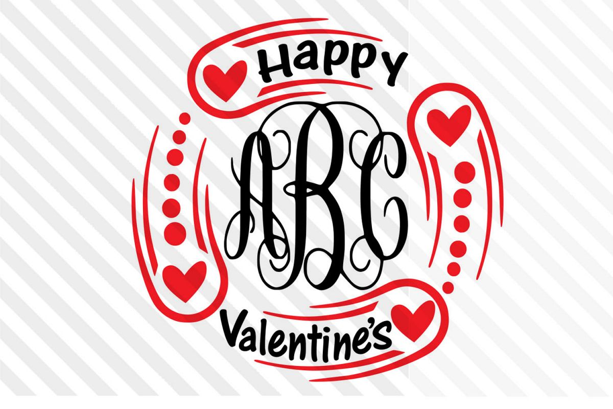 Monogram ,LOVE,Valentine day,Cricut,Silhouette,couple ,Font example image 1