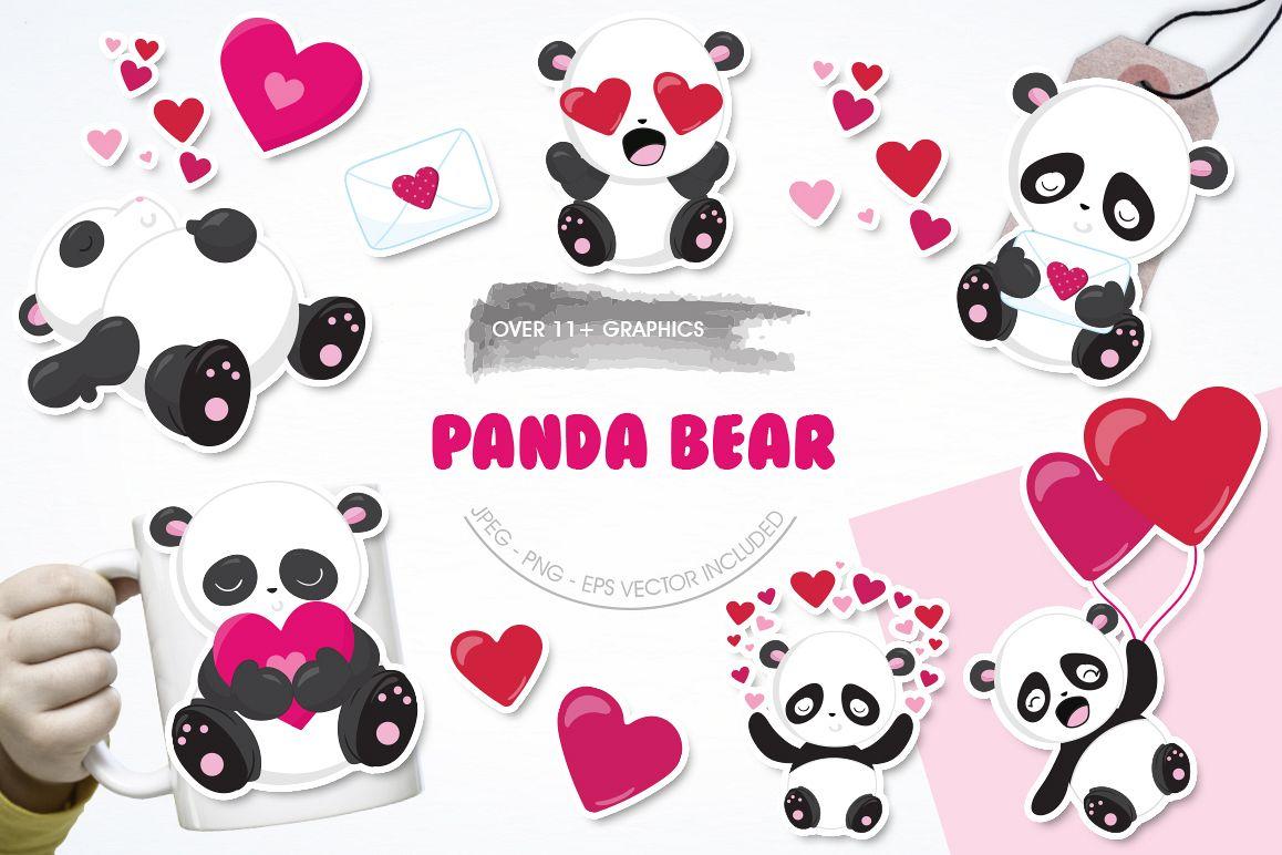 Panda Bear graphics and illustrations example image 1