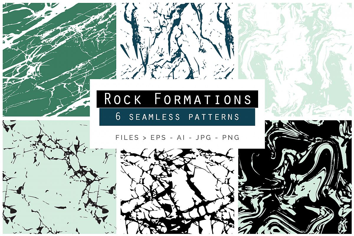Rock Formations Seamless Patterns example image 1