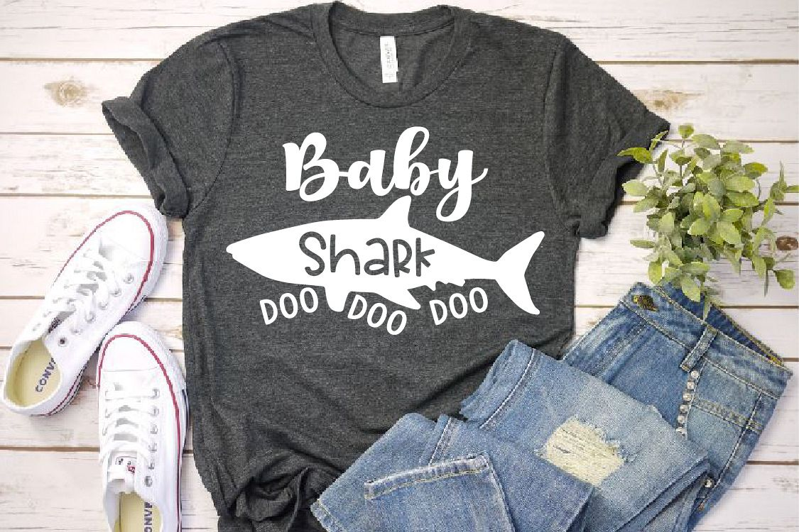 Baby Shark SVG Mother's Day Doo Best Family Birthday 1303s example image 1