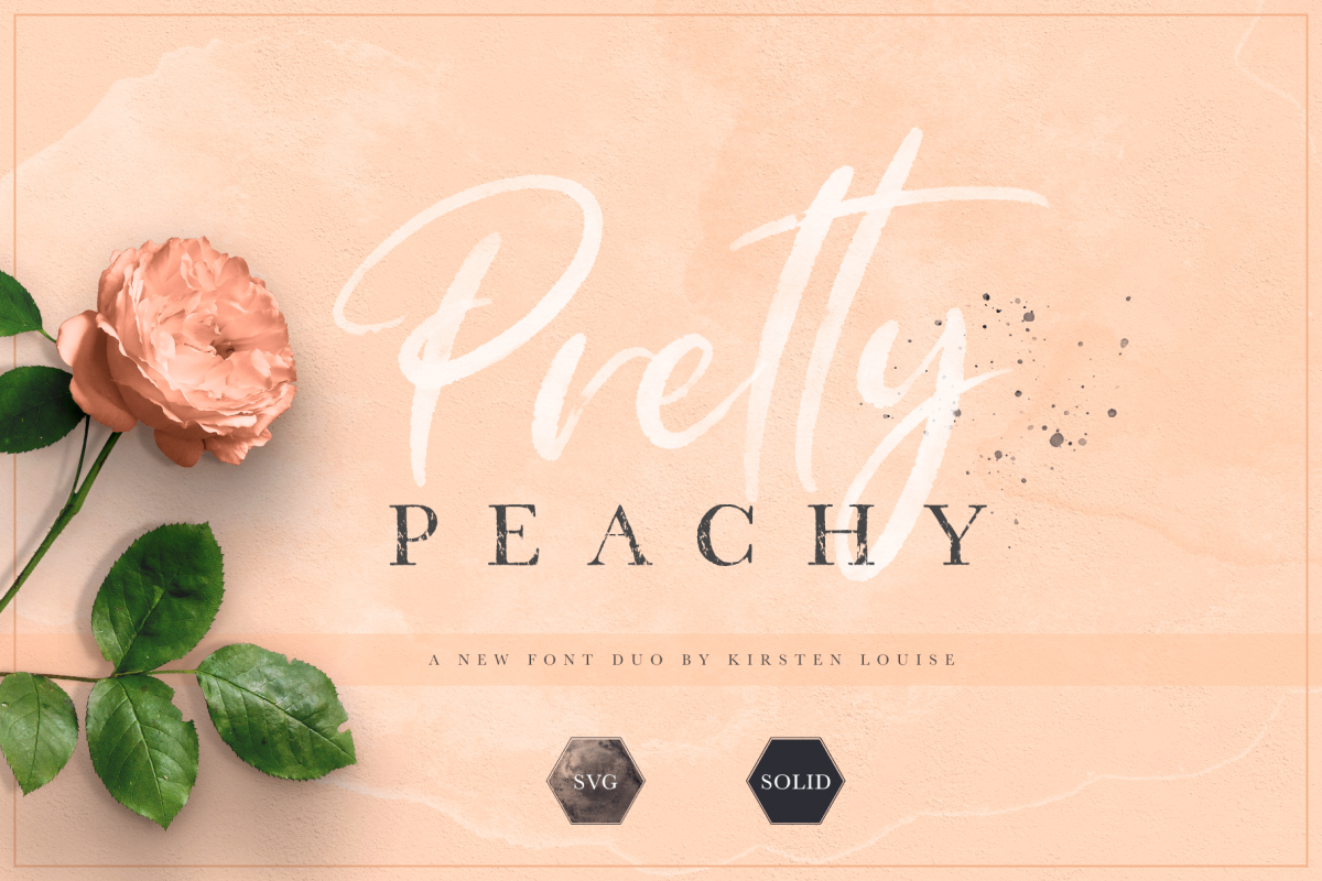 Pretty Peachy SVG Font Duo example image 1