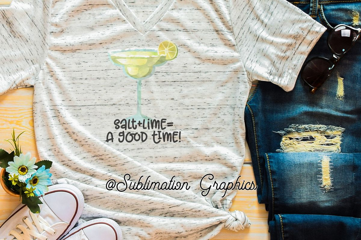 Salt plus Lime 2 Sublimation Digital Download example image 1