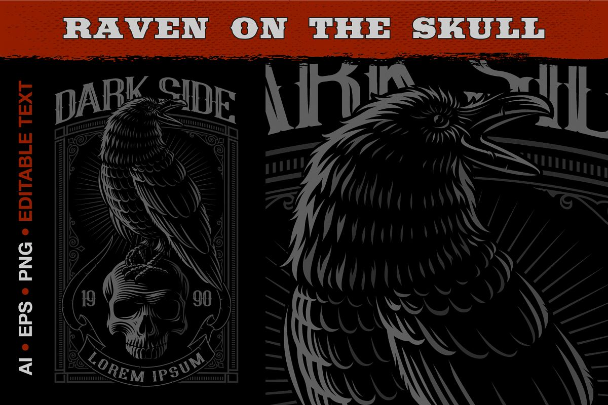 Raven on the Skull example image 1