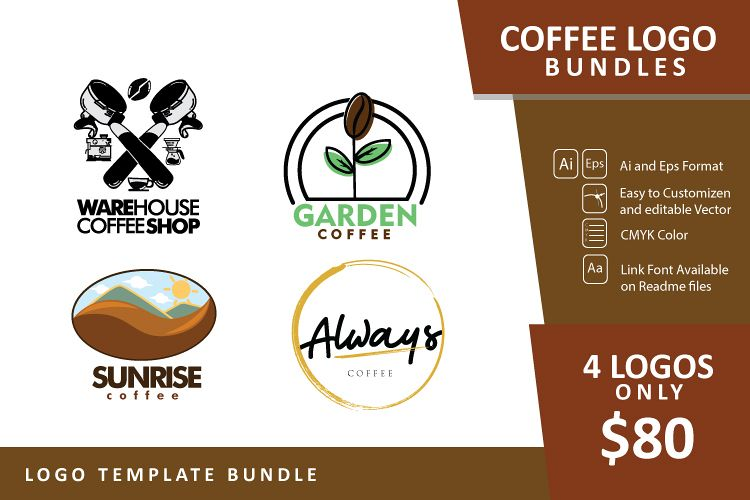 Set bundle logo - Coffee Logo example image 1