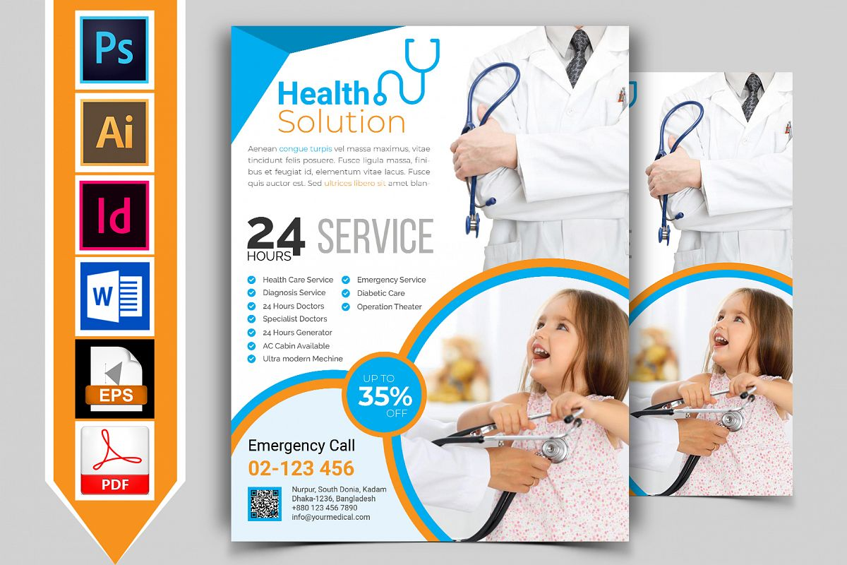 Doctor & Medical Flyer. Vol-03 example image 1