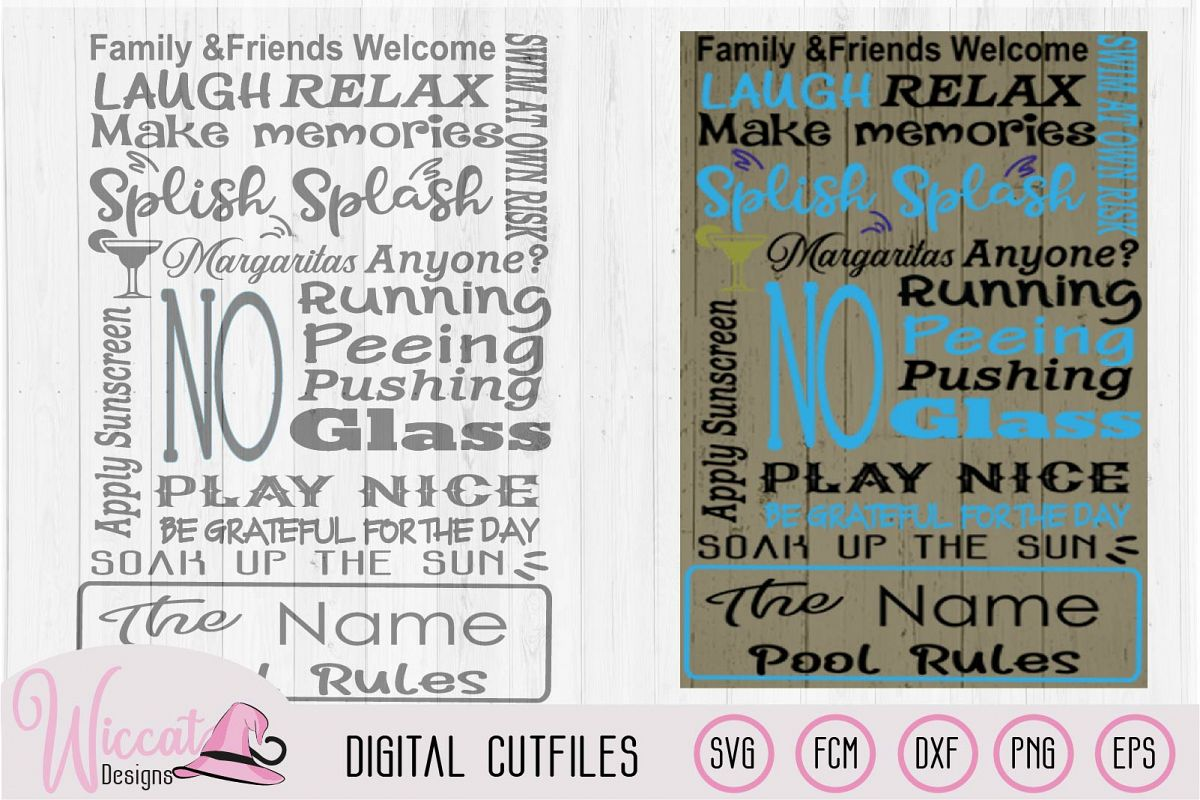 Pool rules sign, Swimming pool sign, Beach sign svg example image 1