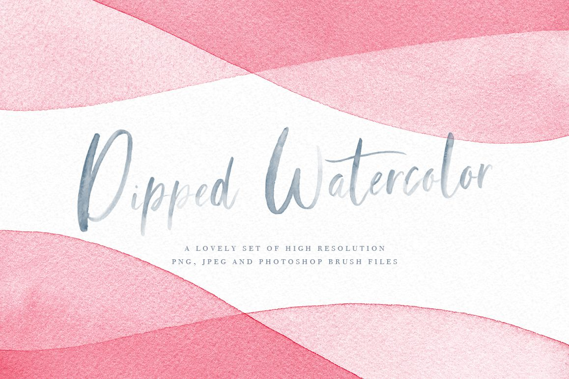 Watercolor Dip Dye Backgrounds including PS Brushes example image 1