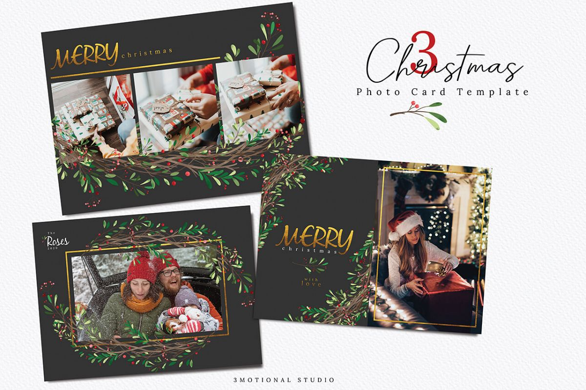 Christmas Photo Card Template example image 1