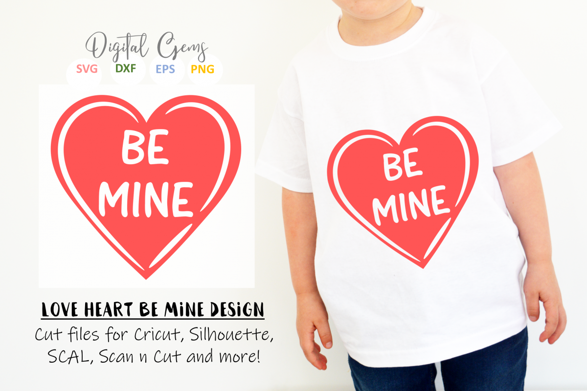 Be mine SVG / EPS / DXF / PNG Files example image 1